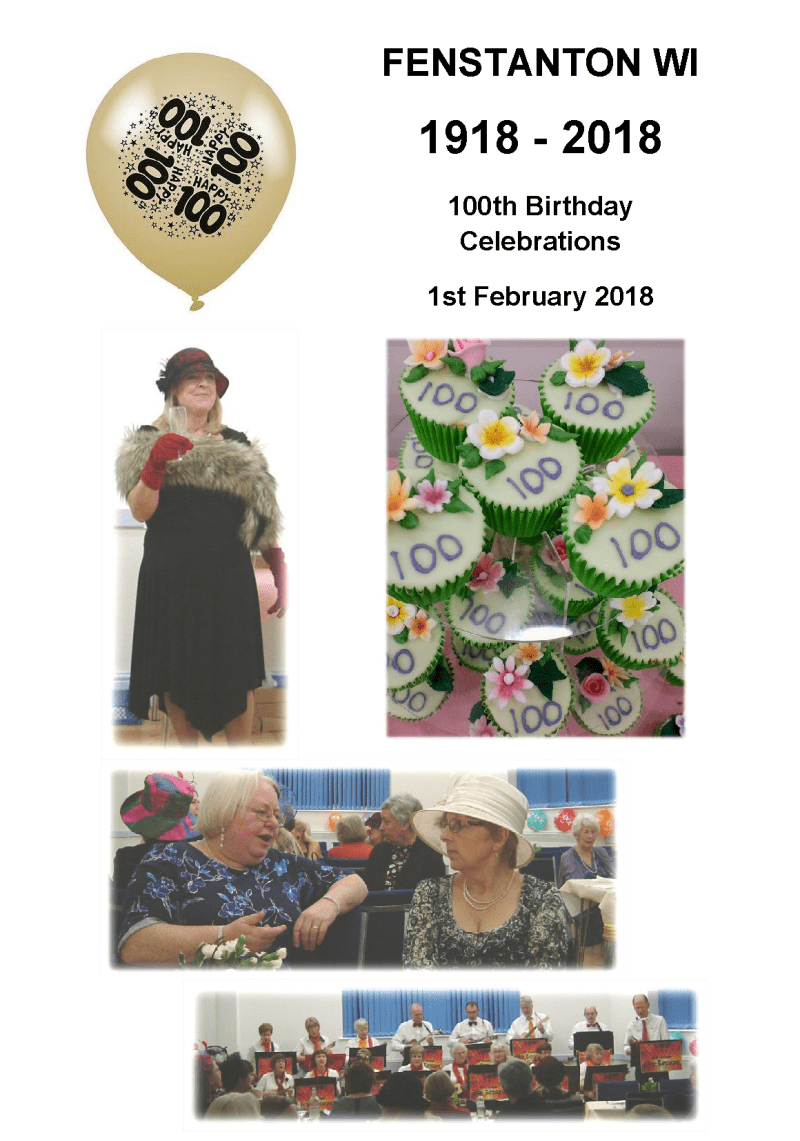 Fenstanton WI 100th Birthday