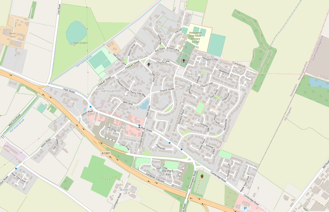 Fenstanton map