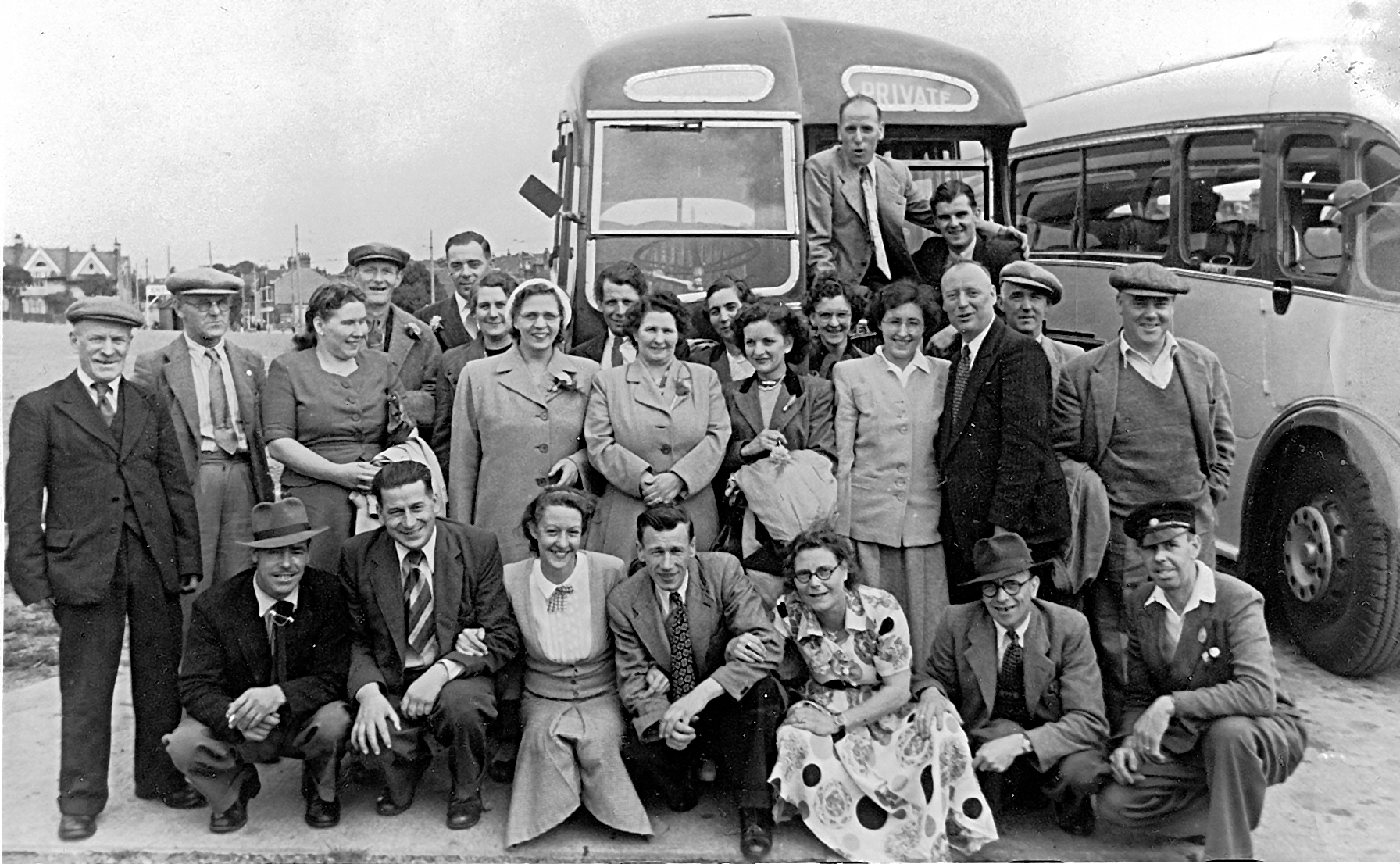 The George Fenstanton - outing to Southend in1950s